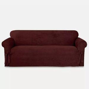 Sure Fit Designer Suede Twill Sofa Slipcover